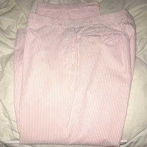 Orvis pink seersucker pants waist 40